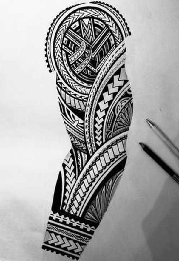 bản vẽ hình maori