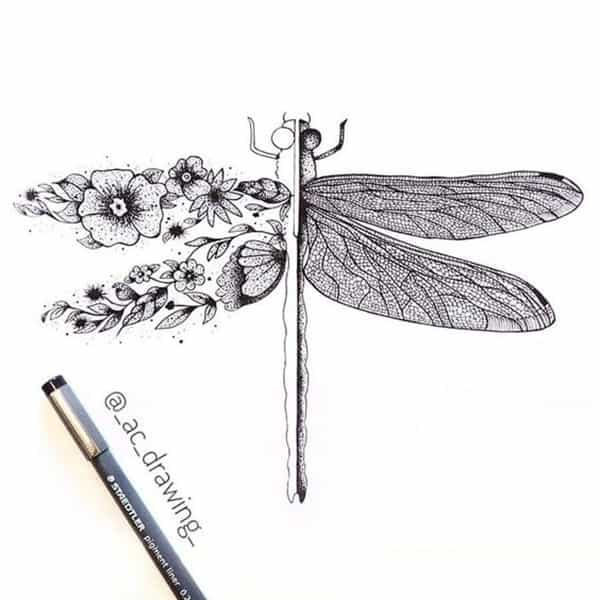 best dragonfly tattoo