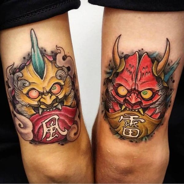 daruma demon tattoo
