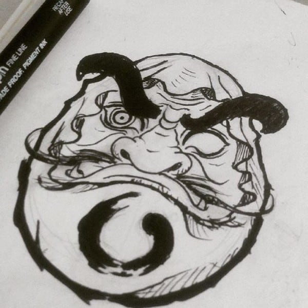 daruma tattoo pattern
