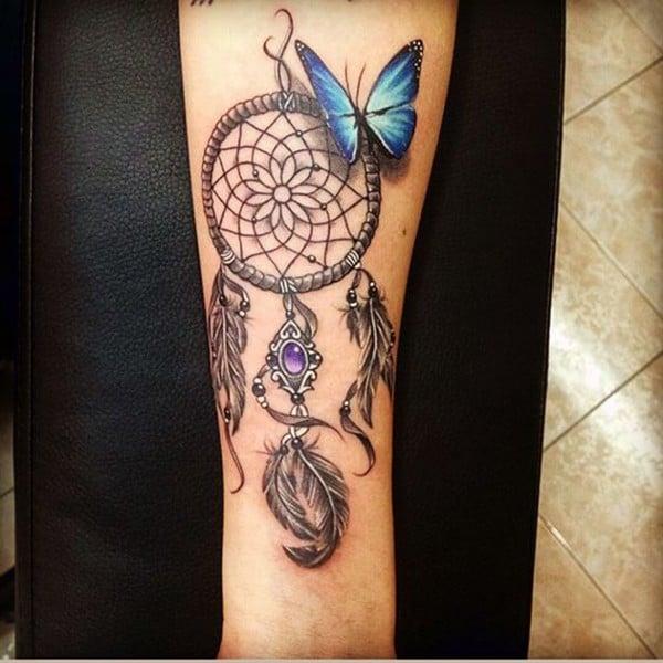 dreamcatcher tattoo on arm