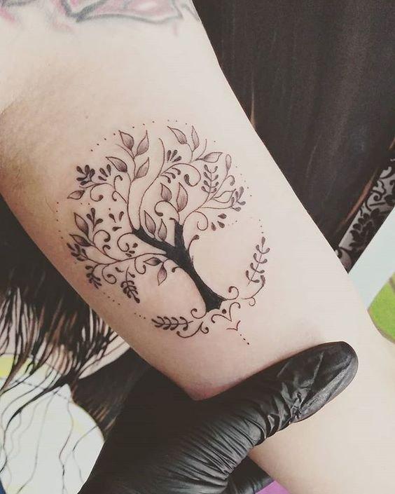 Xăm cây cổ thụ trên tay