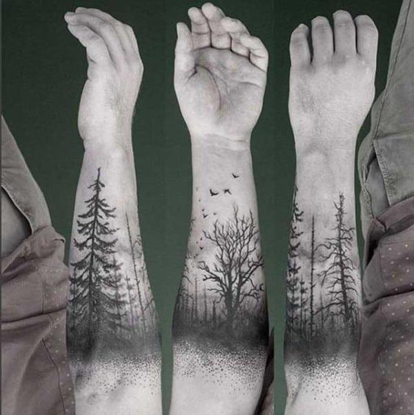 Hình xăm cây ở tay