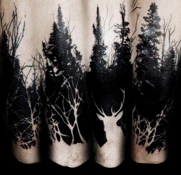 Hình xăm cây thông