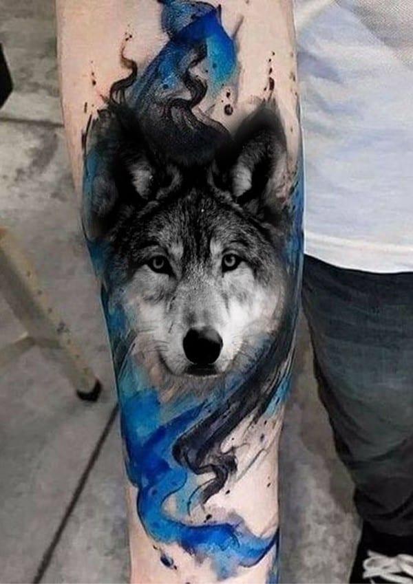 hình xăm chó sói đẹp
