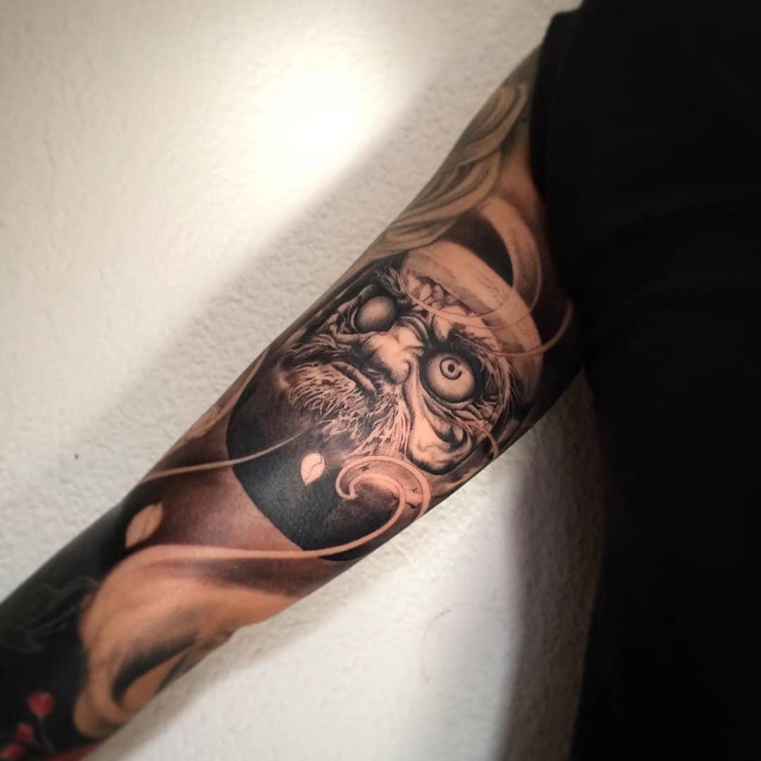 daruma tattoo full cánh tay