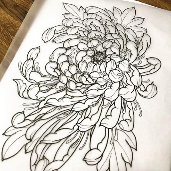 hình xăm hoa cúc dại