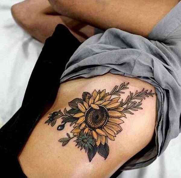 Chiêm ngưỡng những mẫu hình xăm hoa hướng dương đẹp nhất | Tadashi Tattoo