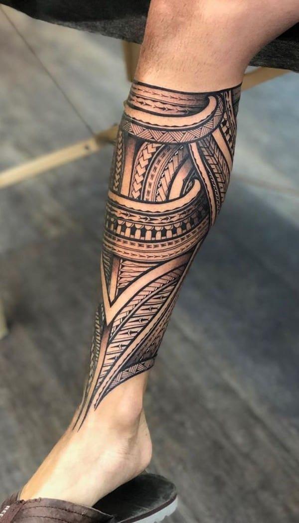 hình xăm samoa maories dưới chân