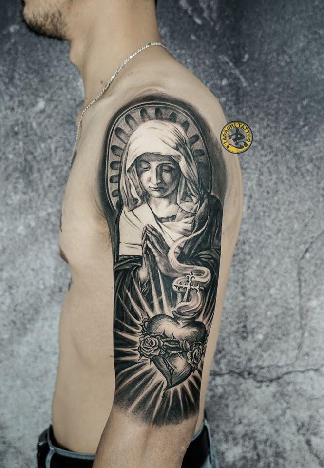 hình xăm thiên chúa giáo đức mẹ