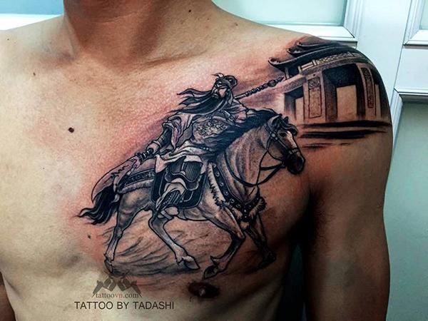 Quan Công mạnh mẽ trên ngựa xích thố