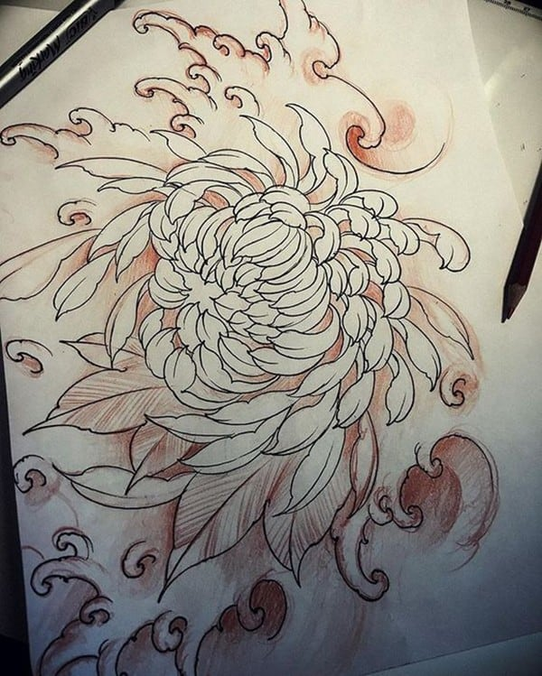 japanese chrysanthemum tattoo