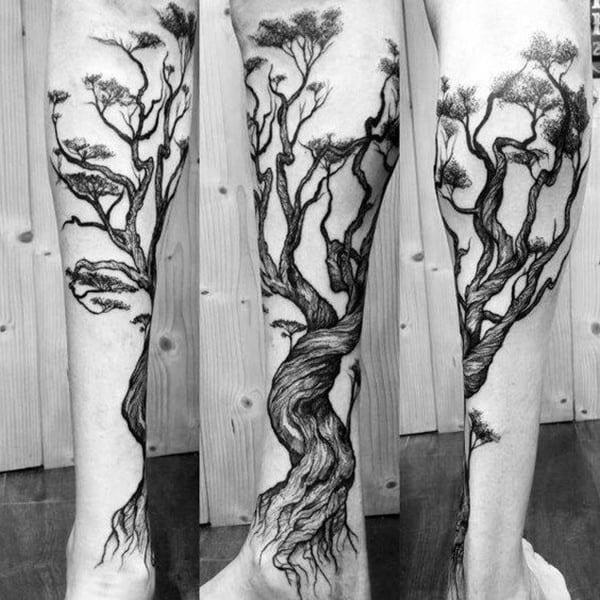 mẫu hình xăm cây cổ thụ đẹp