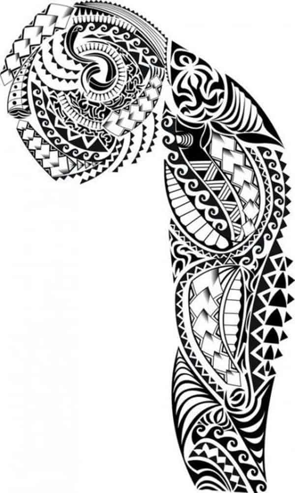 mẫu hình xăm maori chân