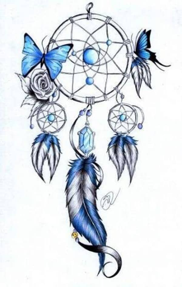 moon dreamcatcher tattoo