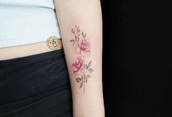 hình xăm hoa hồng đơn giản