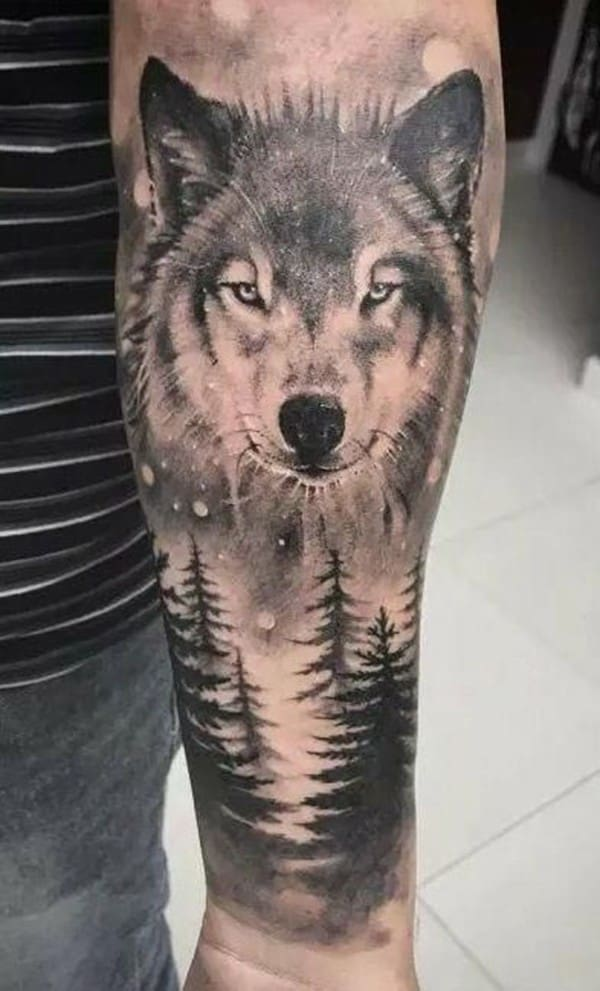 wolf-and-moon-tattoo