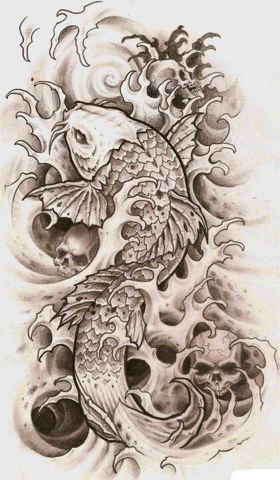 Đầu lâu với cá chép mang vẻ đẹp bí ẩn, rùng rợn