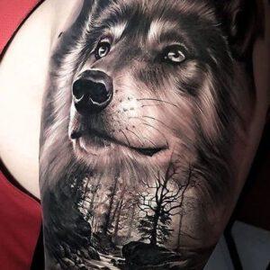 Hình xăm chó sói mang ý nghĩa gì