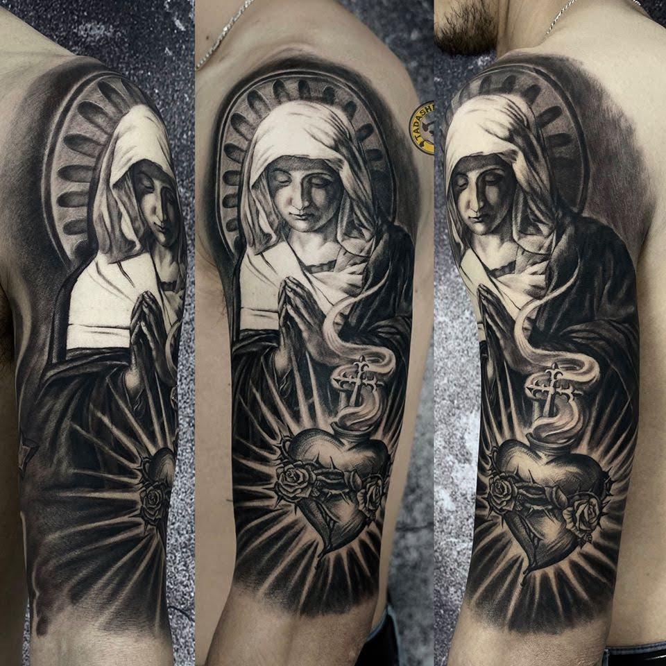 xăm hình đức mẹ maria