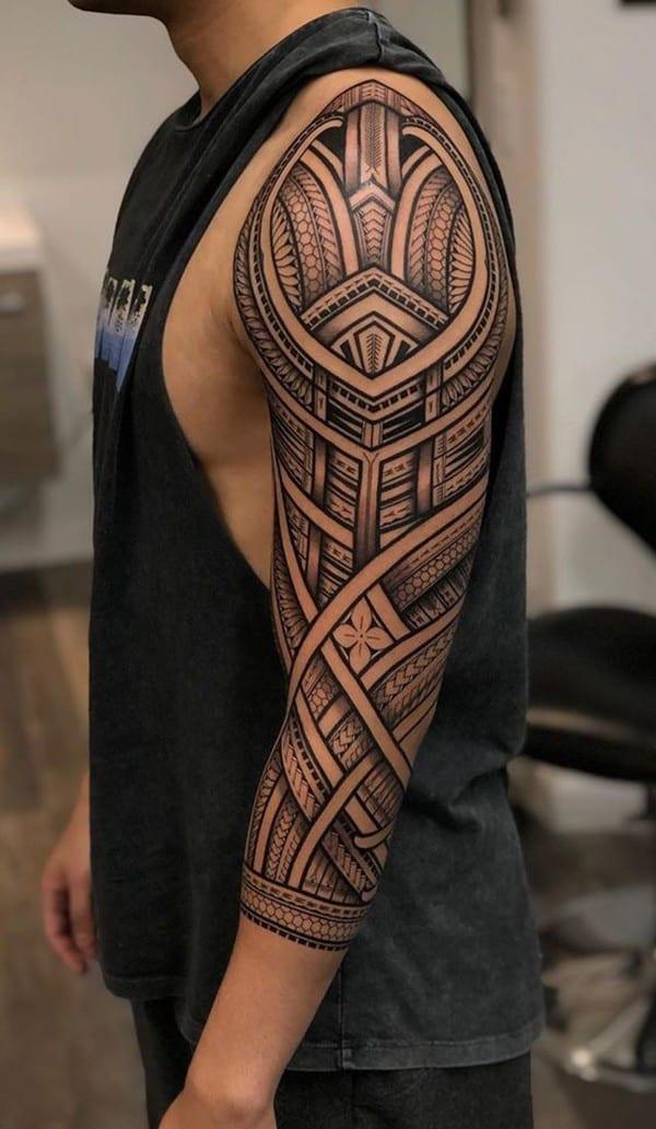 xăm maori bít tay