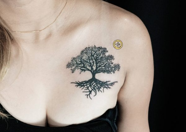 hình xăm cây lớn đẹp