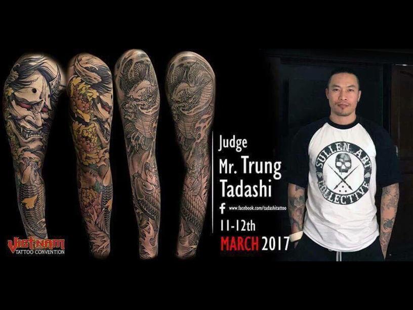 Judge Trung Tadashi at Vietnam Tattoo Convention 2017
