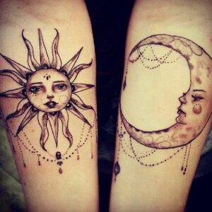 Ý nghĩa hình xăm mặt trăng mặt trời là gì?