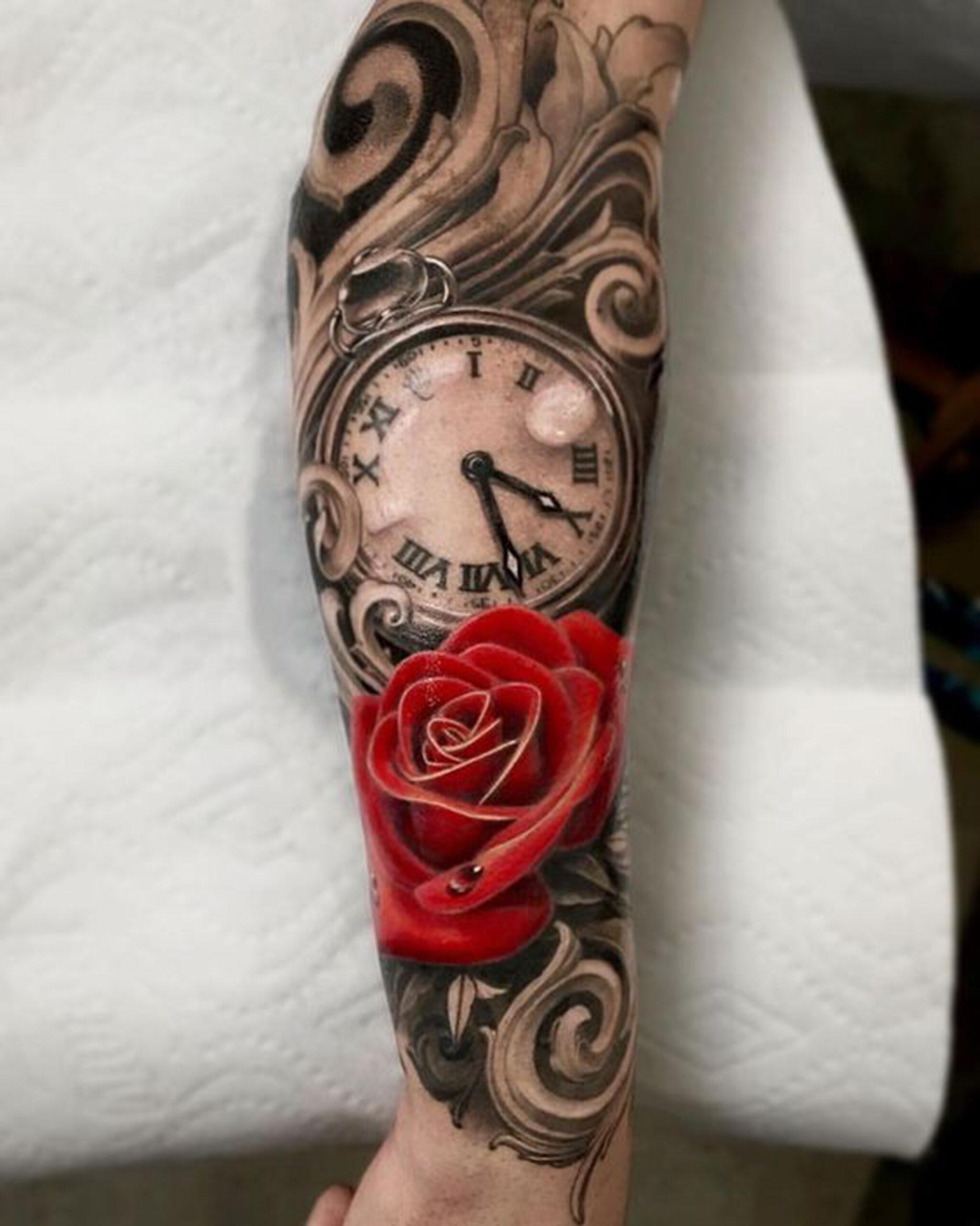 giá hình xăm đồng hồ hoa hồng bao nhiêu?