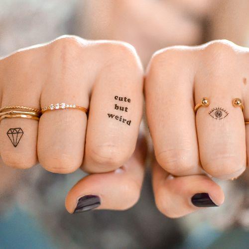 Xăm hình trên ngón tay thể hiện cá tính