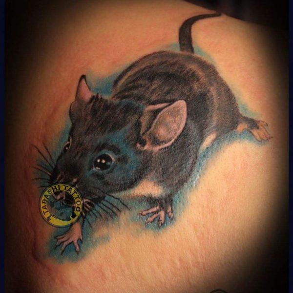 Hình xăm chuột cho người sinh năm 1980 tuổi canh thân
