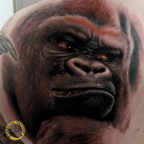 hình xăm con khỉ ở lưng và vai đẹp nhất cho tuổi mậu dần 1998