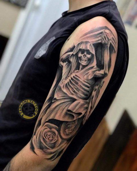 hình xăm thần chết ở bàn tay