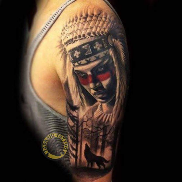 hình xăm thổ dân ở bàn tay