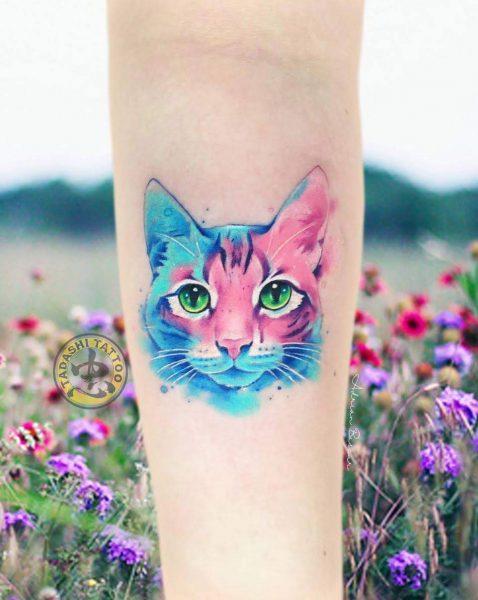 hình xăm mèo con ở chân dễ thương nữ tính cho nữ giới sinh năm 1988