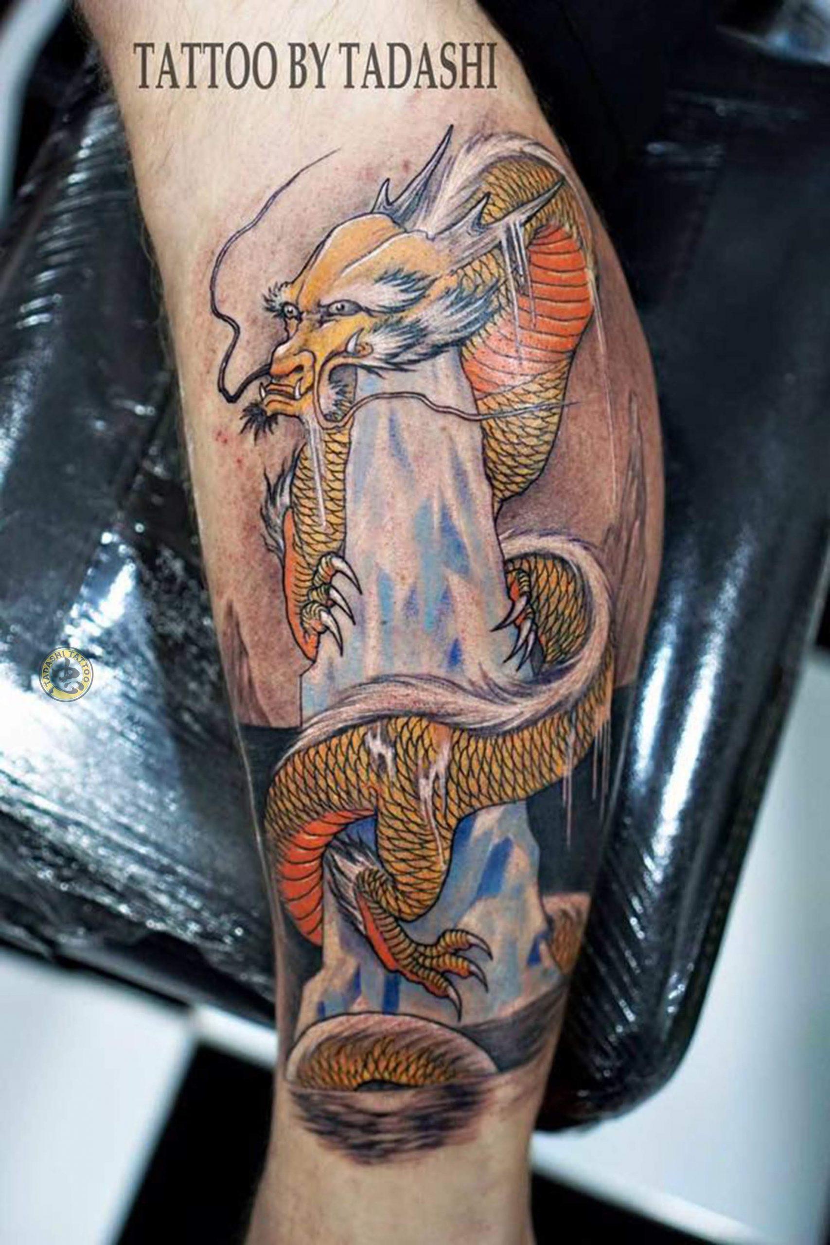 Hình xăm con rồng là biểu tượng của sự tài lộc, may mắn và thành công
