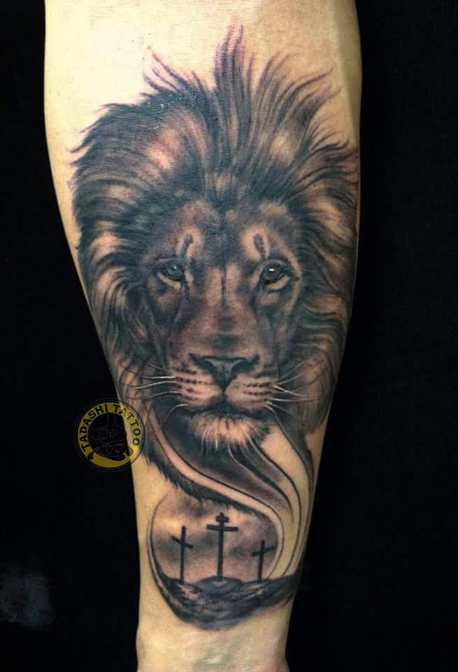 hình xăm cung sư tử thích hợp cho các bạn nam