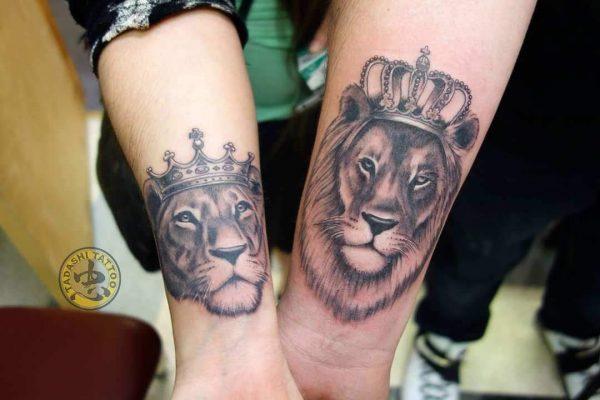 Hình xăm cho các cặp đôi cung sư tử