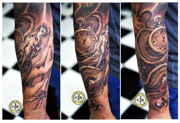 hình xăm rồng ở cánh tay quyền lực cho nam giới tuổi bính dần mạnh mẽ