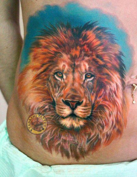 hình xăm sư tử hợp phong thủy