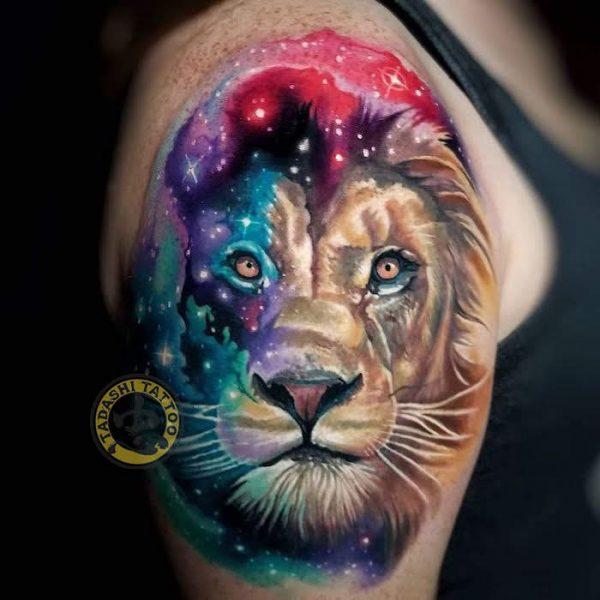 hình xăm sư tử cho nam