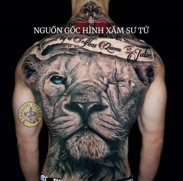 hình xăm sư tử