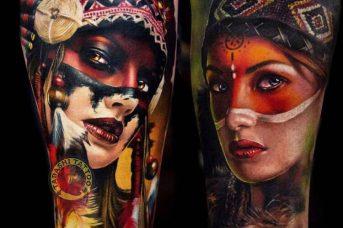 """Hình xăm thổ dân với màu sắc rực rỡ, bắt mắt, là một trong những món """"trang sức"""" giúp bạn trở nên nổi bật và thu hút hơn trước đám đông"""