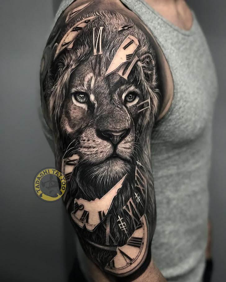 Chọn hình xăm sư tử theo tuổi hợp khắc