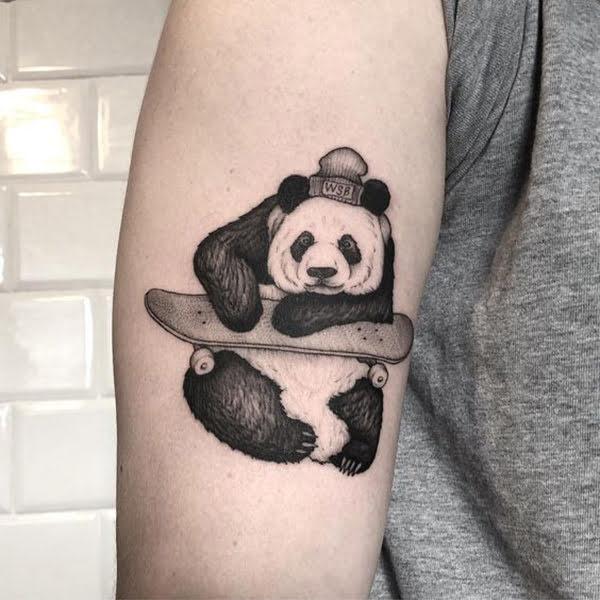 hình xăm panda mini