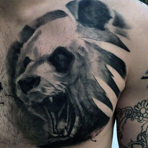 hình xăm panda cho bạn nam