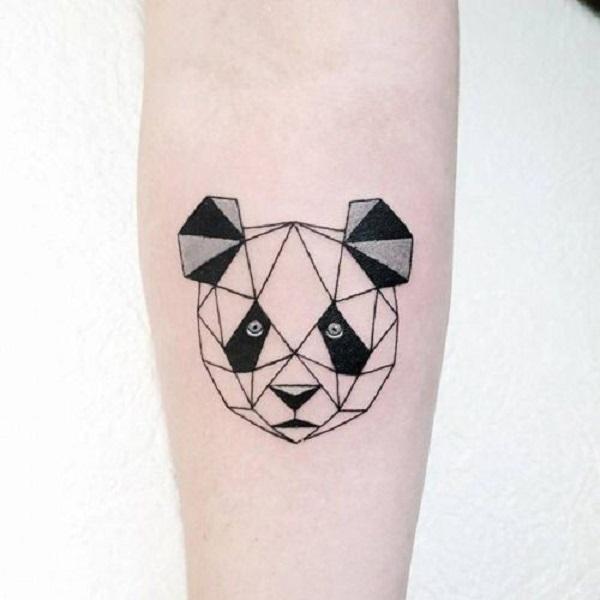 hình xăm panda cho nam