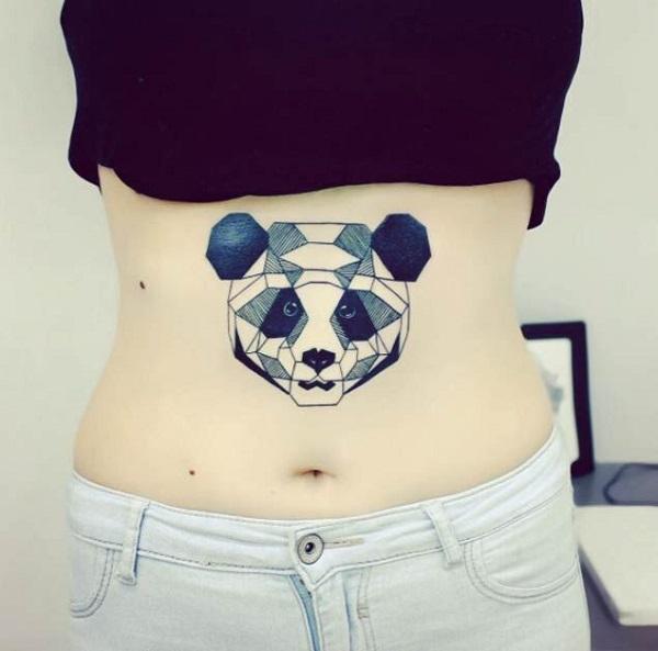 hình xăm panda dễ thương