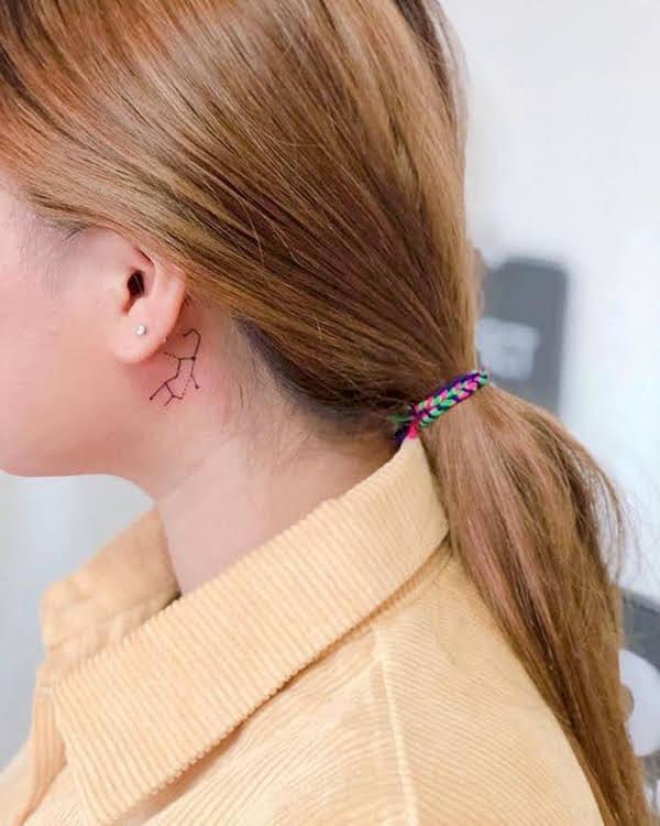 xăm hình xử nữ sau tai