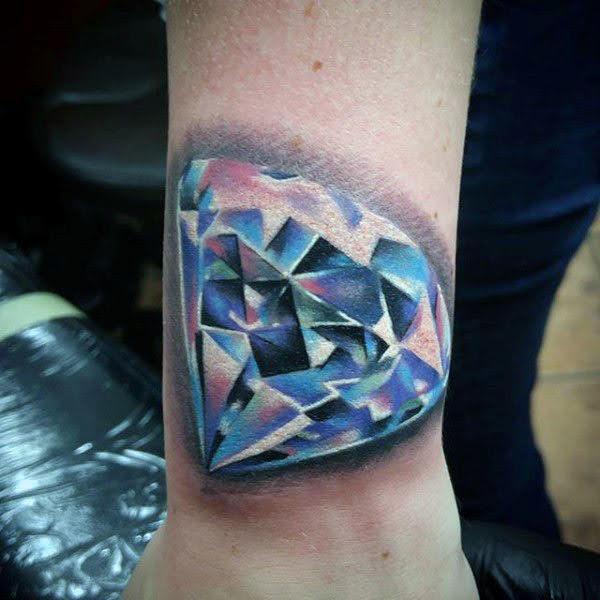 xăm kim cương